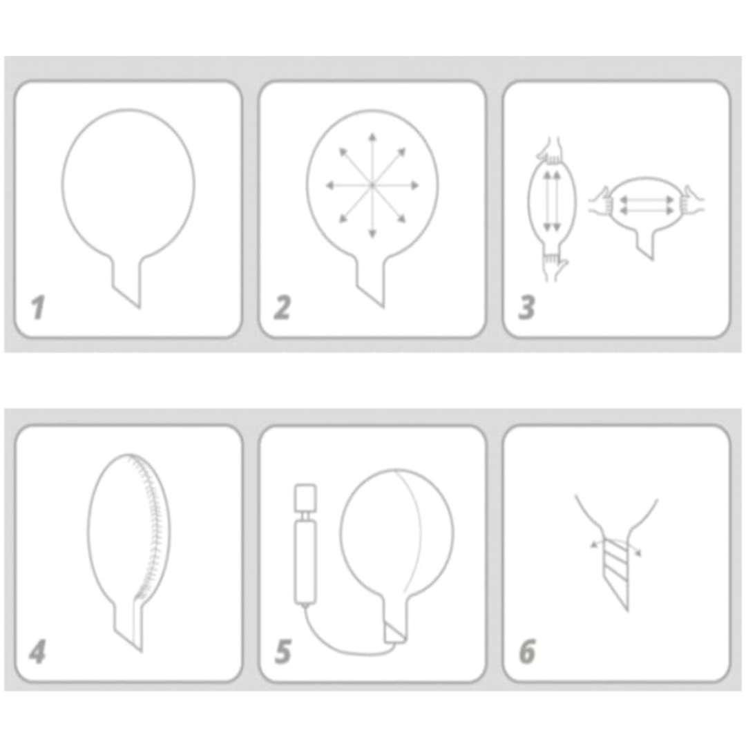Balon foliowy Biały Gołąb przeźroczysty Tuban 18 RND
