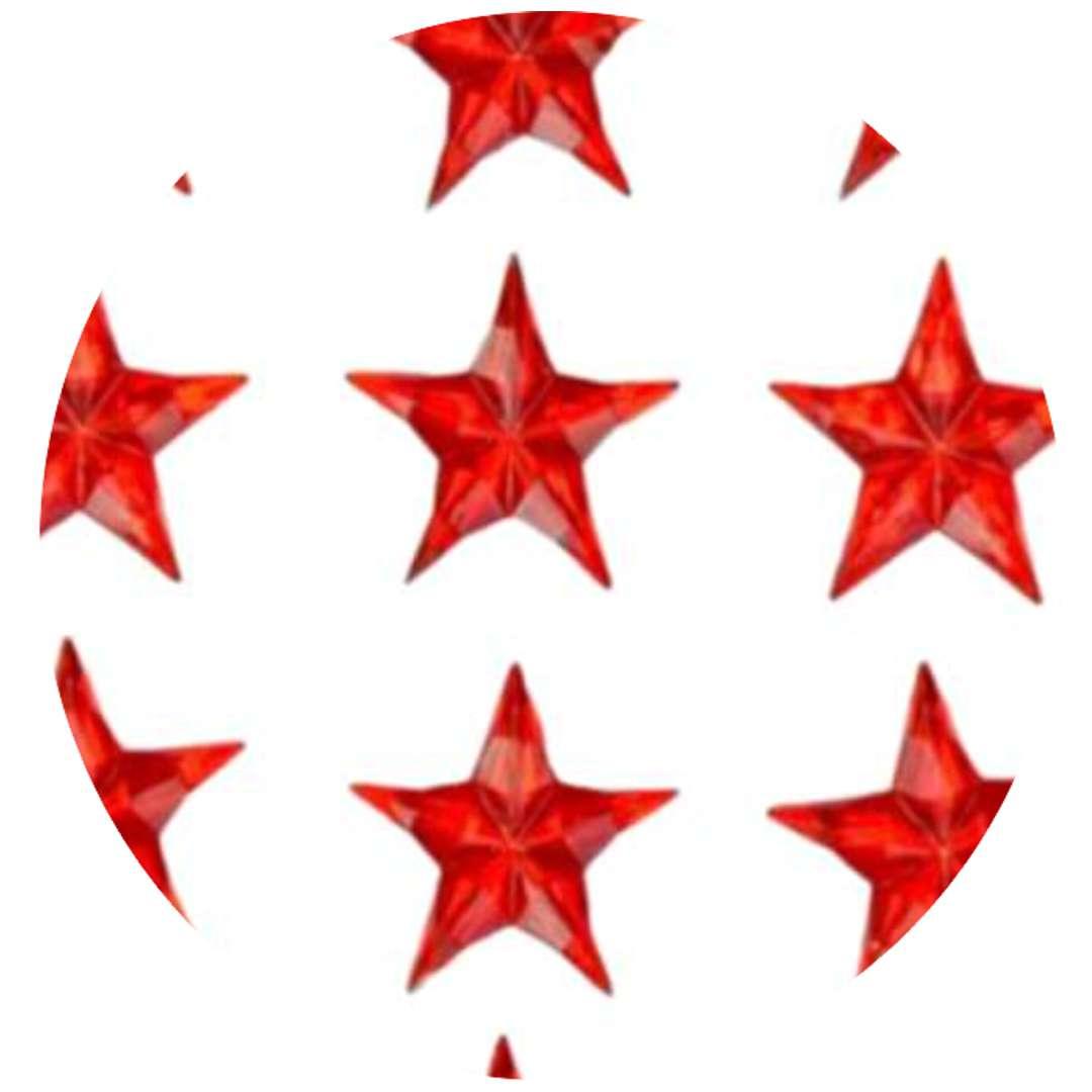 Naklejki Gwiazdy 3D czerwone Aliga 8 szt