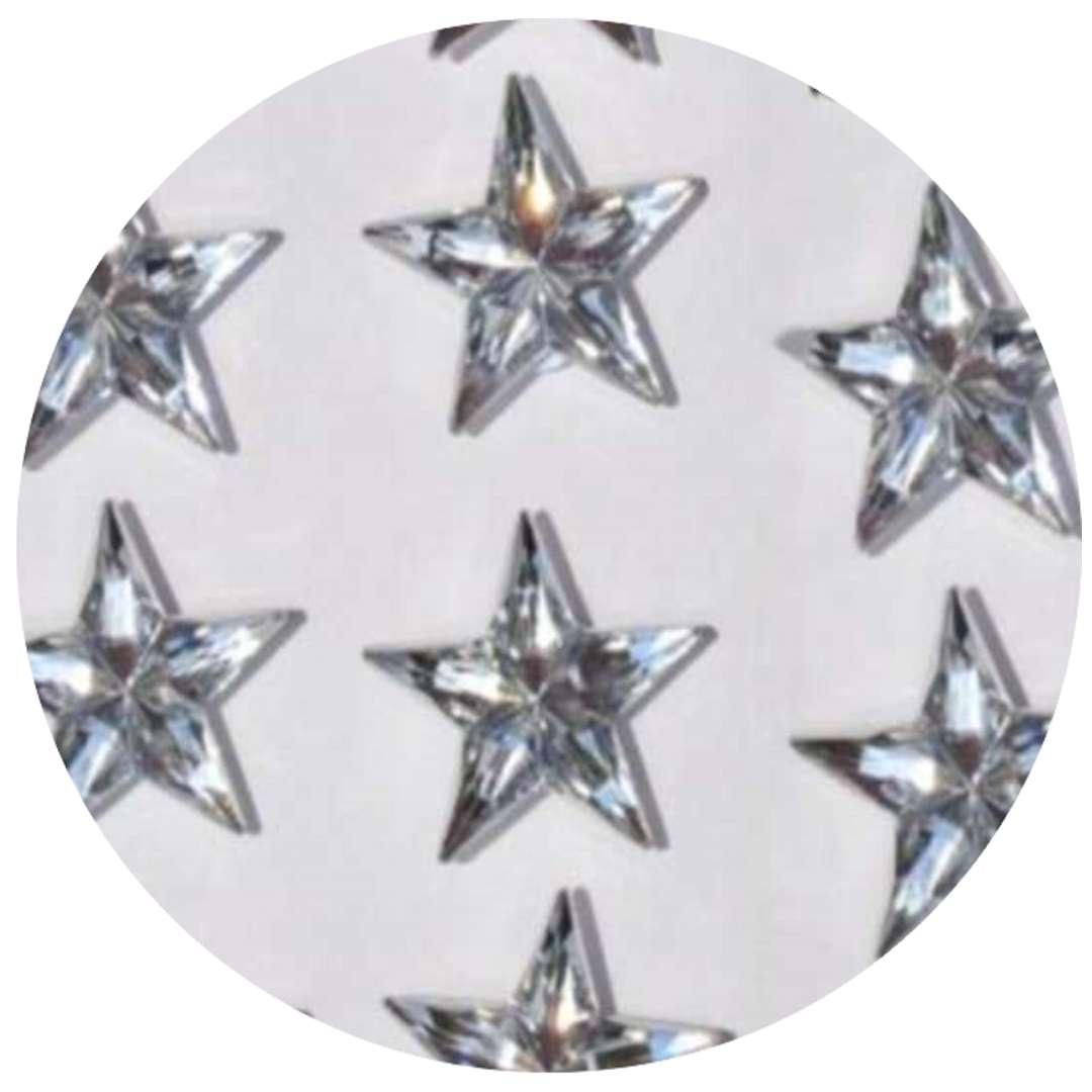 Naklejki Gwiazdy 3D srebrne Aliga 8szt