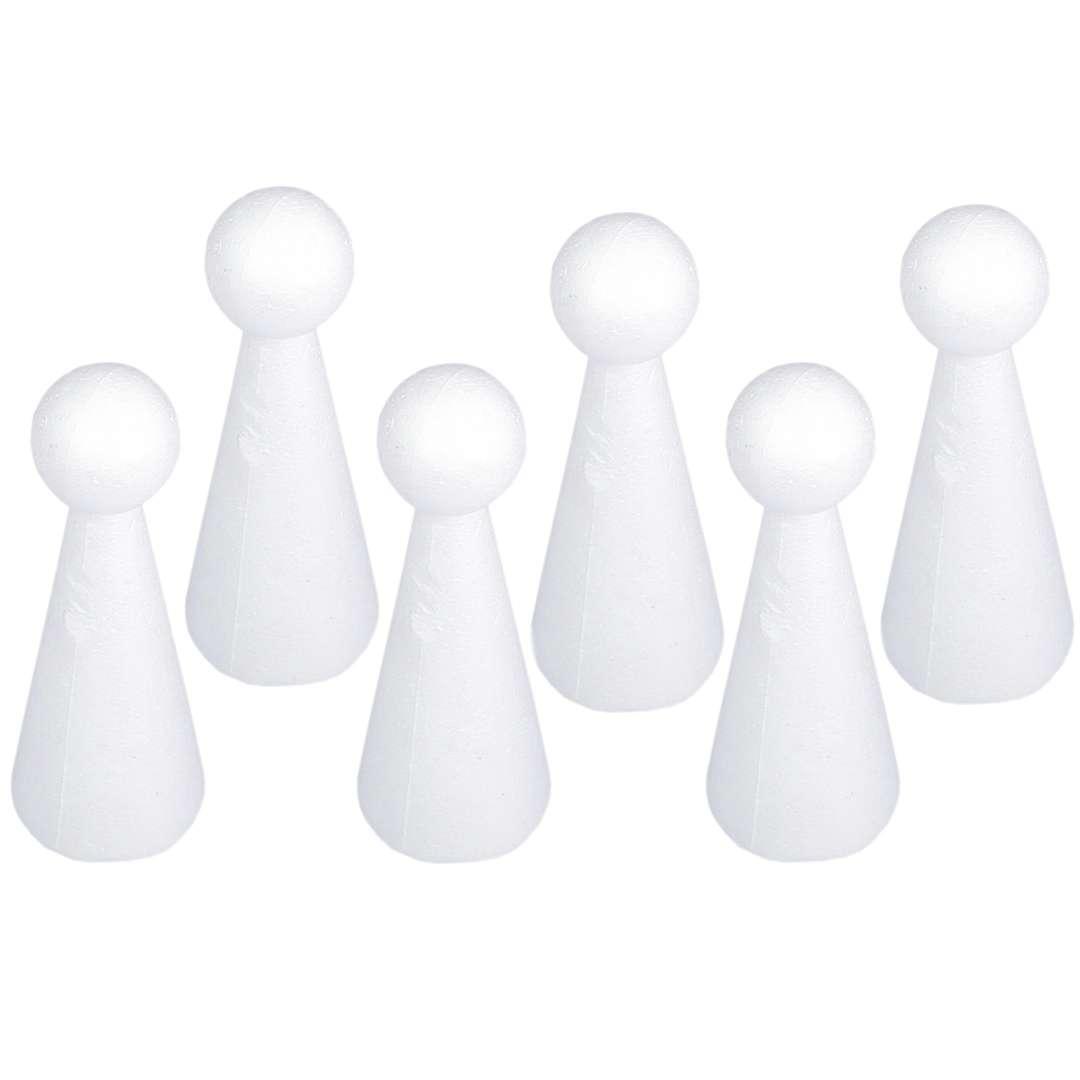 """Styropian """"Stożek - kula"""", biały, Aliga, 13,5 cm, 6 szt"""