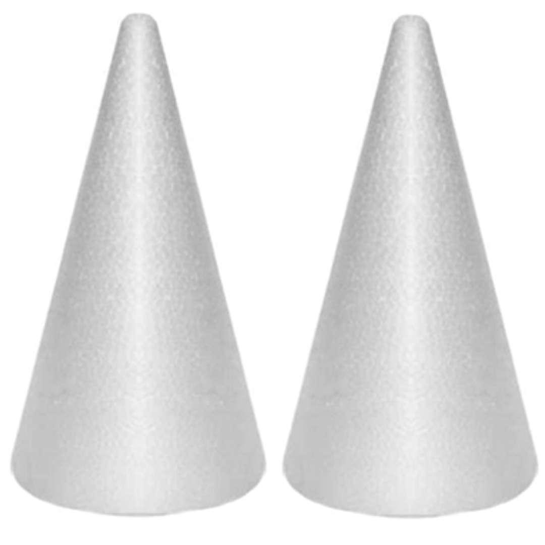 """Styropian """"Stożek Classic"""", biały, Aliga, 30 cm, 2 szt"""