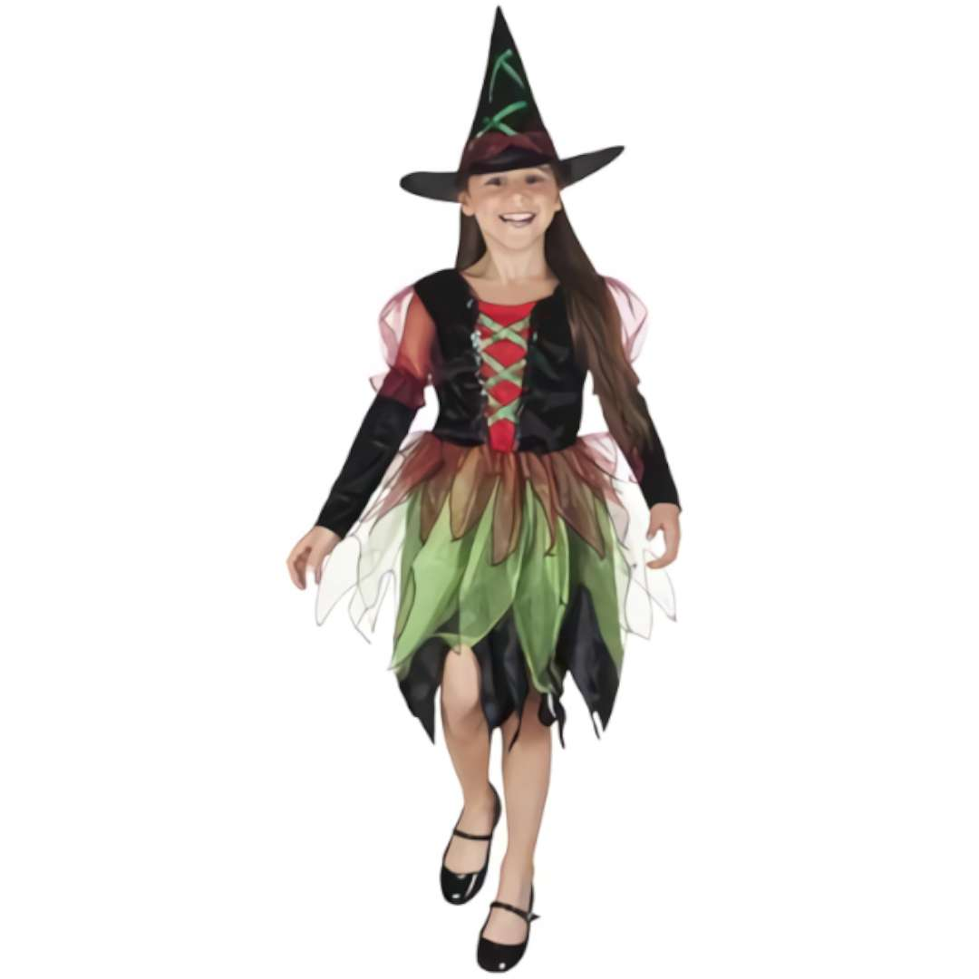 Strój dla dzieci Czarownica w kapeluszu PartyTino 134-140cm