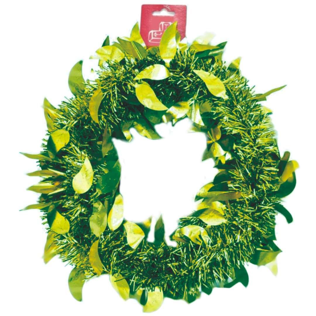 Łańcuch Choinkowy Mat z listkami zielony Arpex 6cm 2 m
