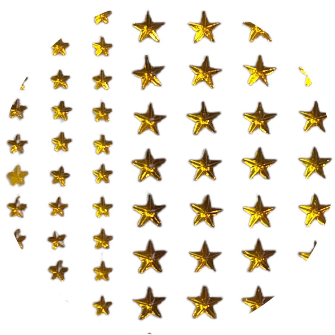 """Naklejki """"Gwiazdki małe i duże"""", złote, Aliga, 6x16 cm"""