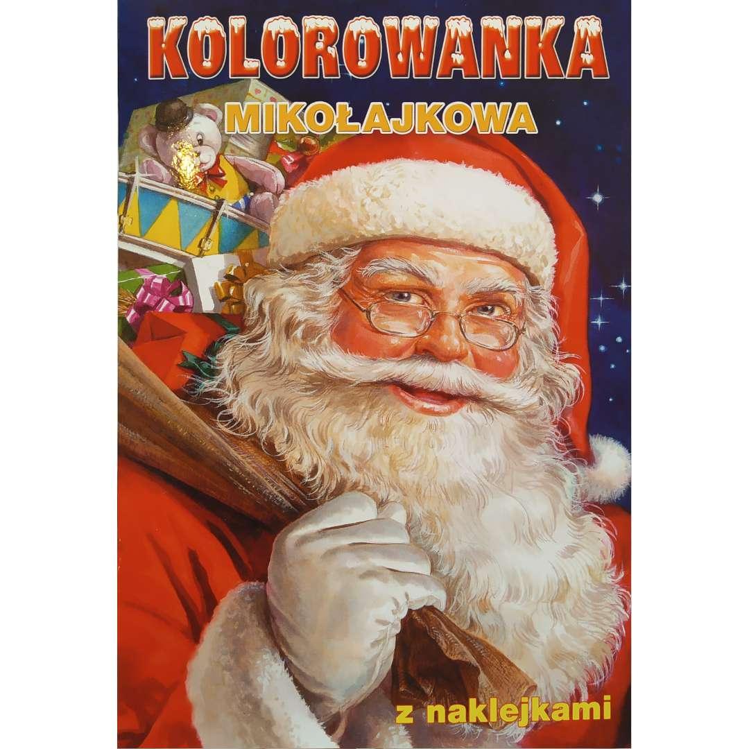 Kolorowanka Świąteczna - Mikołajkowa Maki 16 rysunków