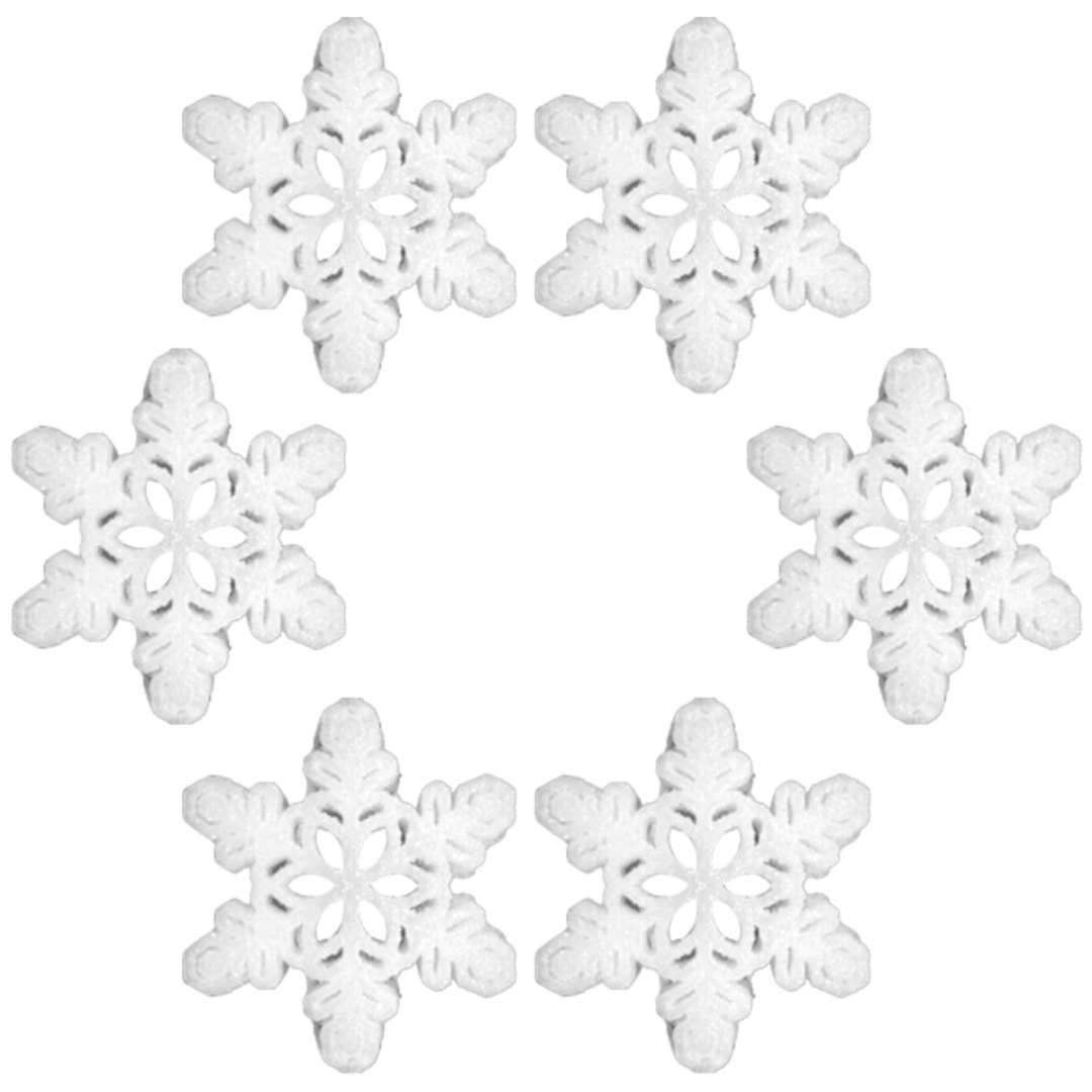 """Ozdoba choinkowa """"Brokatowa śnieżynka wz.4"""", Arpex, 10 cm, 6 szt"""