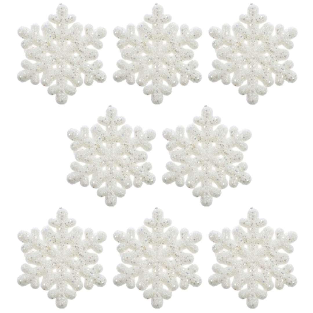 """Ozdoba choinkowa """"Lśniące śnieżynki"""", Arpex, 7 cm, 8 szt"""