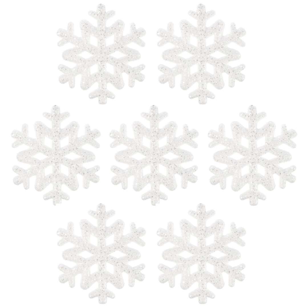 """Ozdoba choinkowa """"Lśniące śnieżynki"""", Arpex, 9,5 cm, 7 szt"""